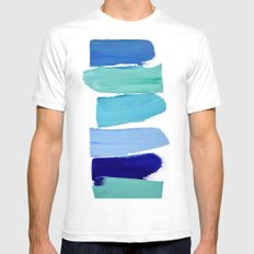 Ocean Blues Mens Fitted Tee White SMALL