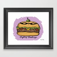 Mystery Cheeseburger Framed Art Print