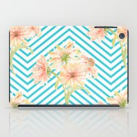 Flowers and Stripes iPad Case