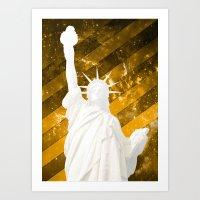 Liberty Gold Pop Art Art Print
