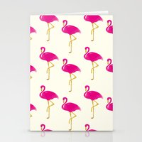 Gold Flamingo Stationery Cards