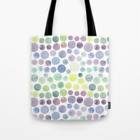 Dots purple and green Tote Bag