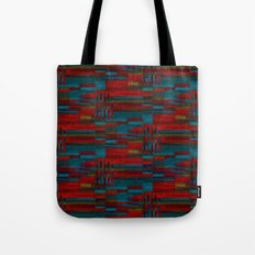 Dark reds in lines of chalk Tote Bag
