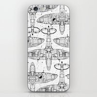 Spitfire Mk. XIV (black) iPhone & iPod Skin