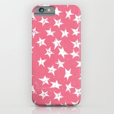 Linocut Stars- Blush & White iPhone 6s Slim Case