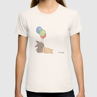 Balloons Womens Fitted Tee Natural SMALL