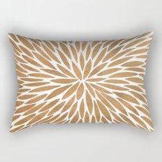 Rose Gold Burst Rectangular Pillow