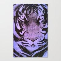 Be A Tiger (Purple) Canvas Print