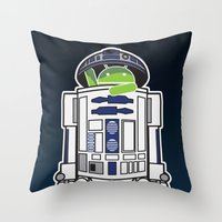 Throw Pillow featuring A Droid in you Droid by maclac