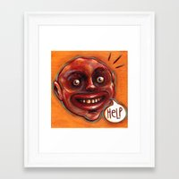 HELP Framed Art Print