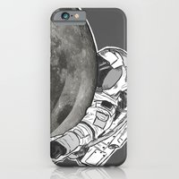 iPhone & iPod Case featuring Troubled Moons and Spacemen by MOVED society6.com/itsTilds