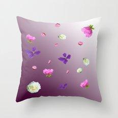Blooming sky Throw Pillow