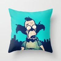 ZOMBIE KRUSTY Throw Pillow