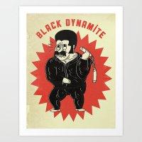 Black Dynamite! Art Print
