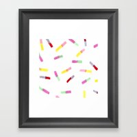 Happy Capsules Framed Art Print