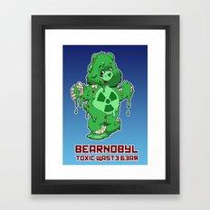 Bearnobyl Framed Art Print