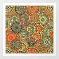 Mandala 163 (Floral) Art Print