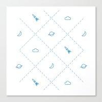 Simple Space Canvas Print