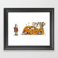 Autumn Has Landed. Framed Art Print