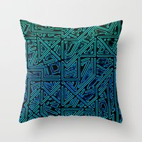 Bleen Grue Throw Pillow
