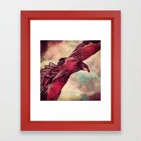 Eagle Splash Framed Art Print