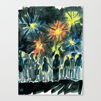 We held hands and watched the fireworks Canvas Print