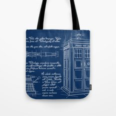Plan Tardis Tote Bag