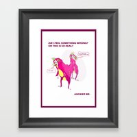 answer me. Framed Art Print