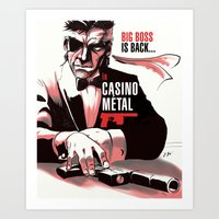 METAL GEAR: Casino Metal Art Print