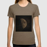 Half Moon Womens Fitted Tee Tri-Coffee SMALL