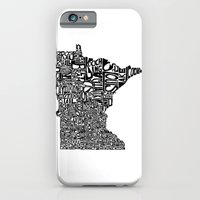 iPhone & iPod Case featuring Typographic Minnesota by CAPow!
