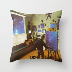 Cosmic studio  Throw Pillow