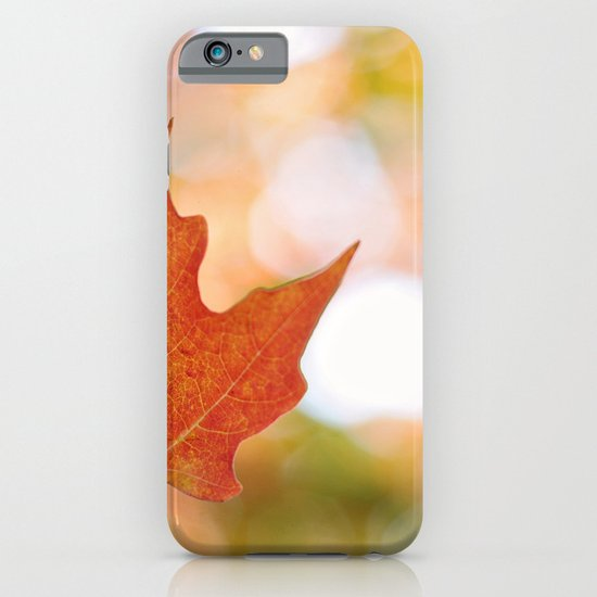 Maple leaf bokeh iPhone & iPod Case