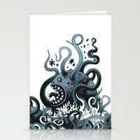 Octoworm (blue version) Stationery Cards