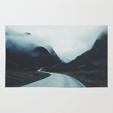 Dark road Rug