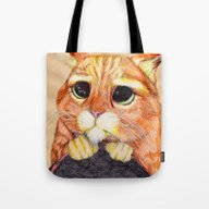 Tote Bag featuring Puss In Boots. by DeMoose_Art