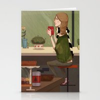 Coffee + Rain Stationery Cards