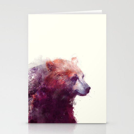 Bear // Calm Stationery Card