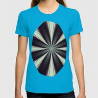 Fractal Pinch In BMAP01 Womens Fitted Tee Teal SMALL