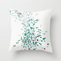 Flurry (green) Throw Pillow