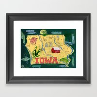 IOWA Framed Art Print