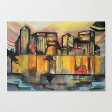 Pop Canary Wharf  Canvas Print