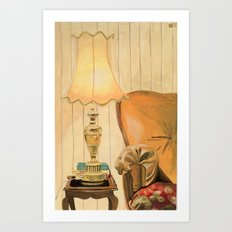 Ugly lamp 2 Art Print