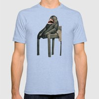 Monkey Mens Fitted Tee Tri-Blue SMALL