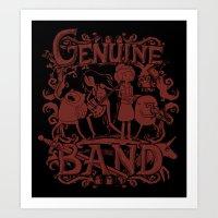 Genuine Band Art Print