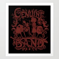 Genuine Band Art Print