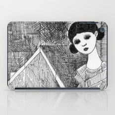 Girl on the top of her house. iPad Case