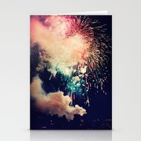 Bursts of light. Stationery Cards