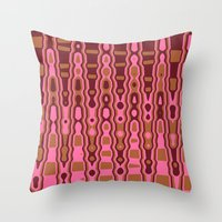Pink And Brown Abstract … Throw Pillow
