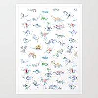 Jurassic Dino Art Print